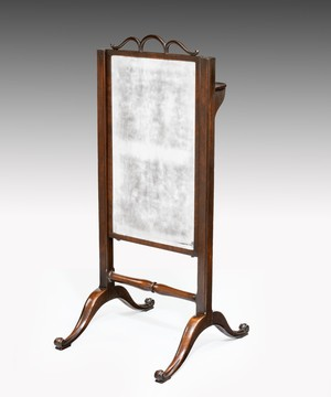 Georgian mahogany cheval mirror