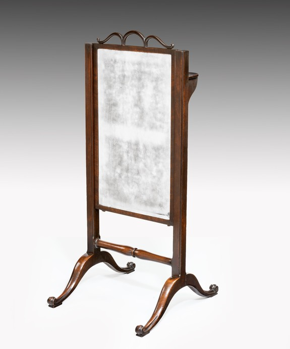 Antique Georgian cheval mirror