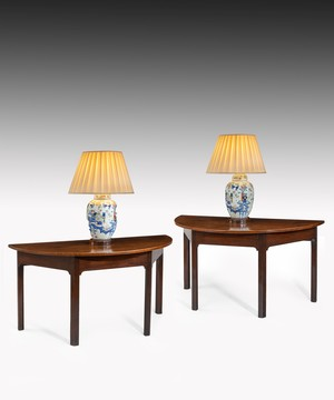 Pair of Georgian mahogany console tables