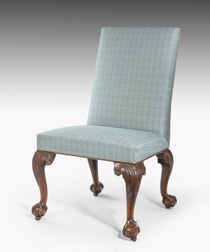 George II carved walnut side chair