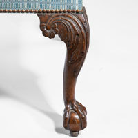 Antique Georgian carved walnut chair