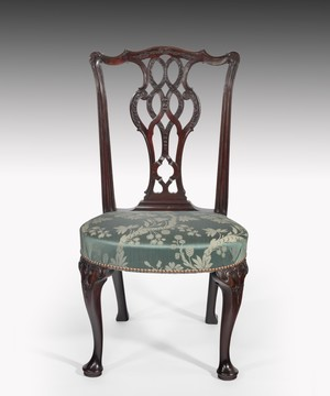 Eighteenth Century George II carved mahogany side chair