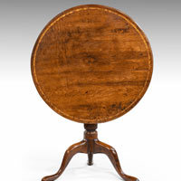 Antique Georgian yew wood vernacular round tripod table