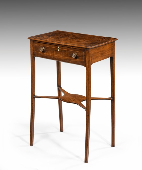 Antique small Georgian side table in mahogany