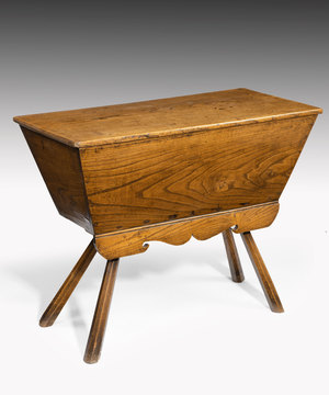 Early Nineteenth Century elm dough bin