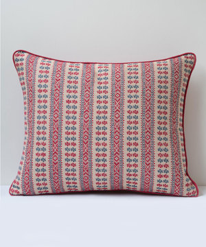 Rectangular cushion in Susan Deliss's Patmos fabric