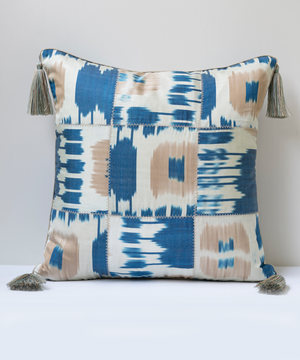 Square double sided ikat cushion
