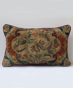 Rectangular cushion covered in Seventeenth Century tapestry