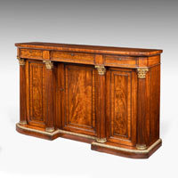 Antique Regency mahogany and ormolu side cabinet