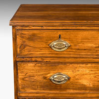 Antique Regency fruitwood chest of drawers
