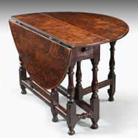 Antique oak dining table.
