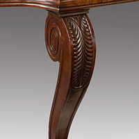 Antique Regency serving table in mahogany.