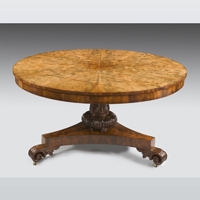 A Regency mahogany centre table.