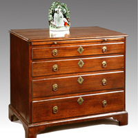 A George I chest of drawers.