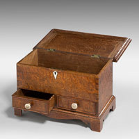 Antique miniature mule chest