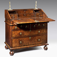 A small Queen Anne walnut bureau