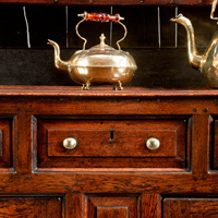 A George II Welsh oak dresser and rack.