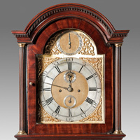An antique Georgian mahogany longcase clock.