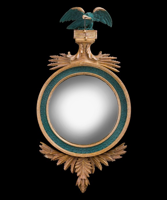 A Regency convex mirror.
