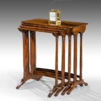 A Regency nest of tables by Gillows, Lancaster.