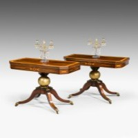 Pair Regency card tables.