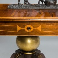 Antique Regency sofa table in rosewood.