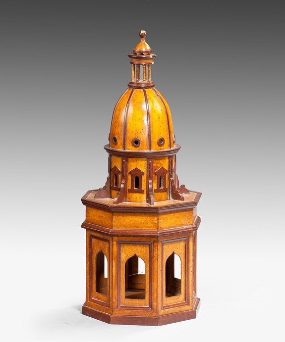 An architectural model of a dome