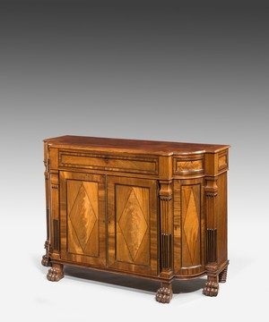 Regency mahogany cabinet in the neoclassical taste