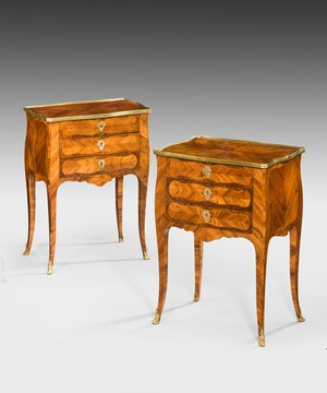 A pair of Louis XV style side tables.