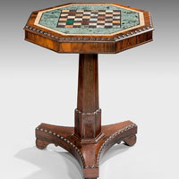 Antique chess table.
