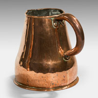 Antique Georgian Copper ale jug.