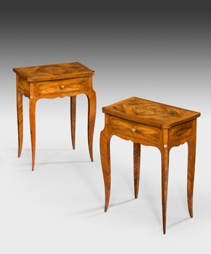 A pair of Louis XV design side tables.