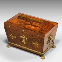 Antique Regency tea caddy