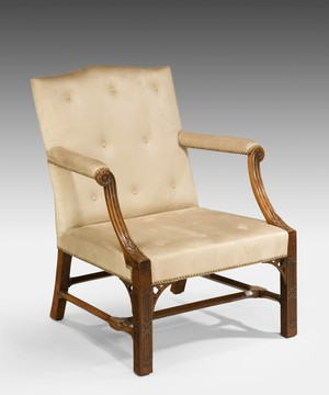 A Chippendale mahogany Gainsborough armchair.
