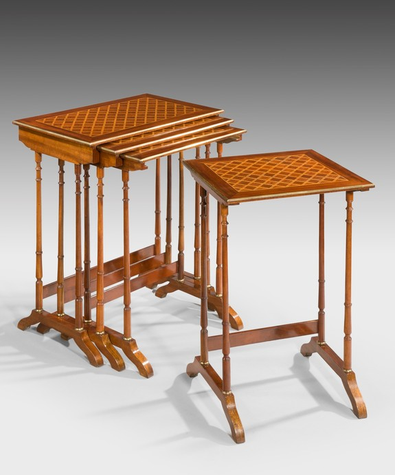 Nineteenth Century nest of tables.