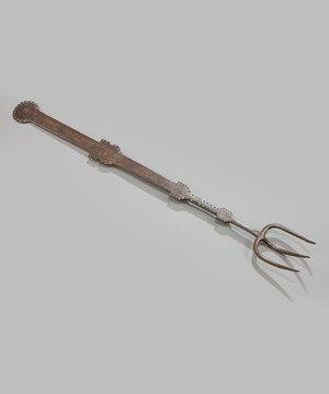 An early 19th Century steel cooking fork.