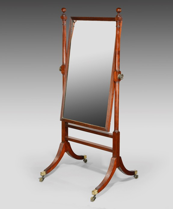 Antique Regency cheval mirror