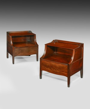 A pair of Georgian Lanchasire commodes.