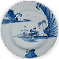 Antique Georgia delft plate.
