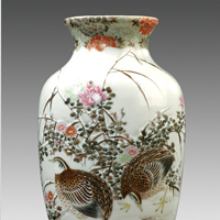 A good Japanese Meiji period porcelain vase. Thumbnail 1