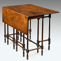 A fine George III period mahogany spider table. Thumbnail 1