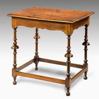 An unusual fruitwood and elm George II centre table. Thumbnail 1