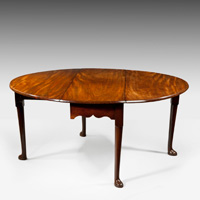 Antique George II period mahogany dining table.