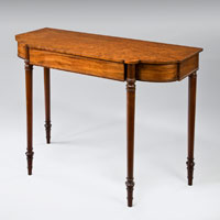 A good Sheraton period mahogany breakfront console table. Thumbnail 1