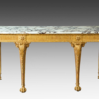 A rare Chippendale period carved giltwood console table. Thumbnail 1