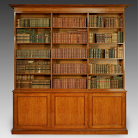 A Regency period satinwood open bookcase. Thumbnail 1