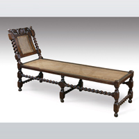 A good Charles II period carved walnut day bed. Thumbnail 1