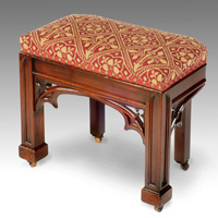 Antique Regency mahogany stool.