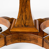 A fine Regency period rosewood veneered centre table. Thumbnail 1