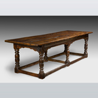 A good 17th Century oak refectory table. Thumbnail 1